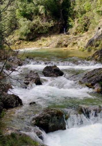 Ruta de senderismo del río Borosa en la provincia de Jaén